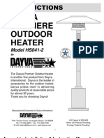Dayva Premier Natural Gas Patio Heater Owners Manual