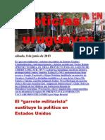 Noticias Uruguayas sábado 8 de junio del 2013