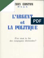 Coston Henry - L'Argent Et La Politique