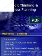 Strategic Thinking Business Planning1