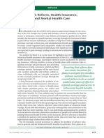 ACA Health Reform and Mental Health Care 2012