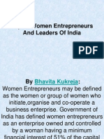 Top 10 Women Entrepreneurs and Leaders of India