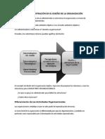 PAPEL DE LA ADMINISTRACIÓN EN EL DISEÑO DE LA ORGANIZACIÓN