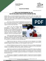 30/03/12 Germán Tenorio Vasconcelos EXHORTA SSO PROTEGERSE DE LOS RAYOS SOLARES PARA EVITAR CÁNCER DE PIEL