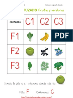 Cruzados Frutas y Verduras 3x3 Fichas 1 a 20