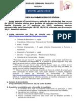 Edital Sevilla 2sem 2012