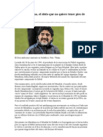 Diego Maradona, El Idolo Que No Quiere Tener Pies de Barro
