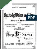 IMSLP06633-Bortkiewicz - Op.31 - Russian Melodies and Dances Duet - Piano 1