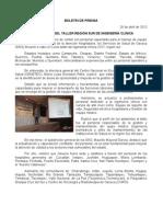 26/04/13 Germán Tenorio Vasconcelos SEDE DEL TALLER REGIÓN SUR DE INGENIERÍA CLÍNICA