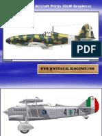 WW II Italian Aircraft Prints (CLW Graphics)