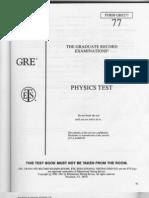PracticeTest-Physics GRE 9277