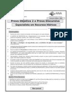 ESAF - 2009 - ANA - Especialista em Recursos Hídricos