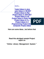 Programming Project Ideas With Sample Project Report on