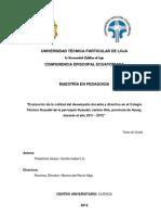 Directivo Desempeño 2012 UTPL