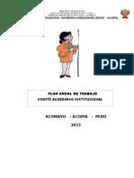 Plan Anual Del Comite Academico 2013