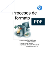 Procesos de Formato