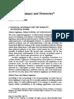 Buchanan - Political Legitimacy