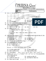 Prerna Classes-AIEEE 2009 Maths