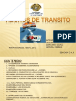 Diapositivas de Medicina Legal Hechos de Transito Definitiva