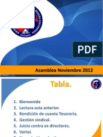 Asamblea NOVIEMBRE 2012