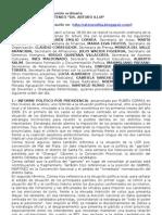 Extracto del Acta de Reunión Ordinaria Ateneo Illia. 25 de Abril de 2009