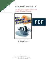 Wily Walnut BRAIN SQUEEZERS Vol.1