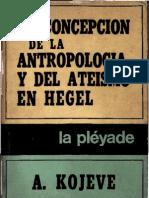 La Concepcion de La Antropologia y Del Ateismo en Hegel