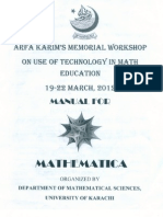 Manual of Mathematica by Deptartment of Mathematics in UoK