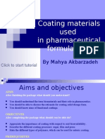 Coarting materials used in pharmaceutical formulations