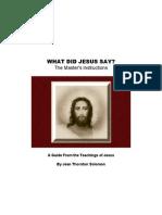 What Did Jesus Say - Teachings of Jesus