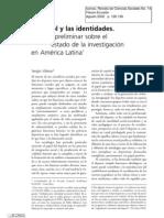 El futbol y las identidades balance preliminar sobre el estado de la investigaciòn de Amèrica Latina de Sergio Villena