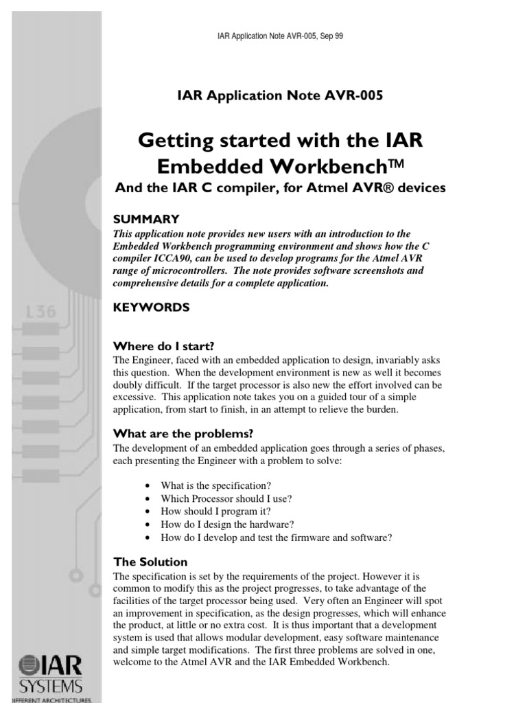 IAR005 Geting Started With the IAR Embedded Workbench | Embedded