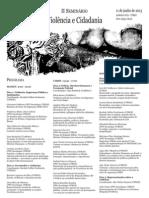 Programação Final - II Seminário Violência e Cidadania - UFRGS
