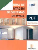 Manual de Montagem de Sistemas Drywall