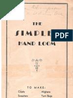Simplex Loom Instructions