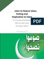 Introduction to Hukum Islam and Fasting Ramadhan