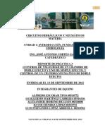 (CONTROL DE VELOCIDAD DE UN CILINDRO DE DOBLE EFECTO Y UNO DE SIMPLE EFECTO, Y CONTROL DE UN CILINDRO NEUMÁTICO