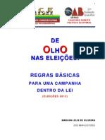 1 - CARTILHA DE OLHO NAS ELEIÇOES - 2012