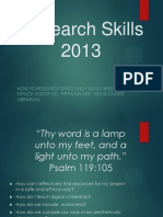 Research Skills 101 by Pippa Davies