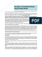 Energy Conservation in Airconditioned Space Using Enthalpy Wheels
