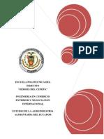 Estudio de La Agroindustria Alimentaria en El Ecuador