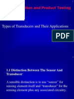 Types of transducer and application