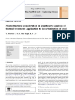 Microstructural consideration on quantitative analysis of thermal treatment