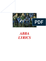 ABBA Lyrics (English)