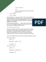 Calculating Temperatures in Mathcad