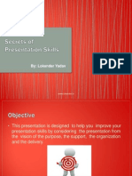 Secrets of Presentation Skills