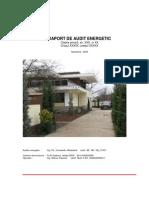 Raport Audit Energetic Exemplu