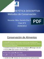 4° Métodos de Conservación