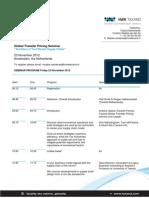 Taxand Global Transfer Pricing Seminar Program 23 November 2012_121025133428