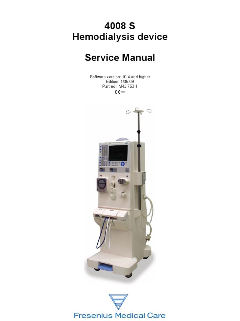 4008 s imagine dialysis calibration rh scribd com Fresenius 2008K Dialysis Machines fresenius dialysis machine 4008s service manual